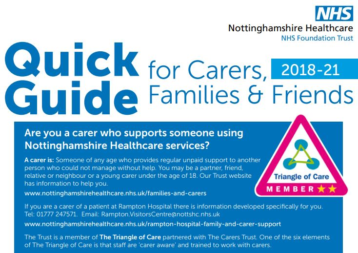 Guide for families and carers