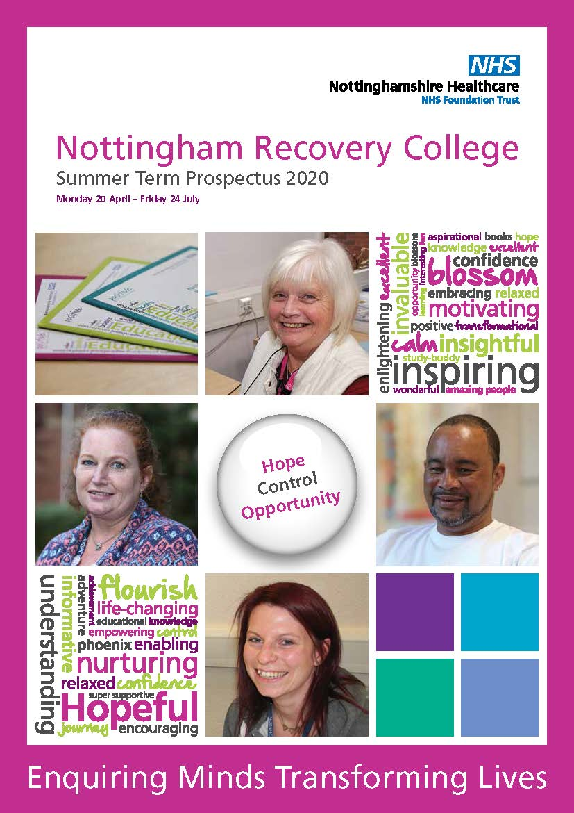 Nottingham Recovery College Summer Term Prospectus 2020