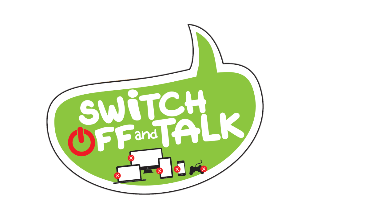 Switch off and Talk header and logo