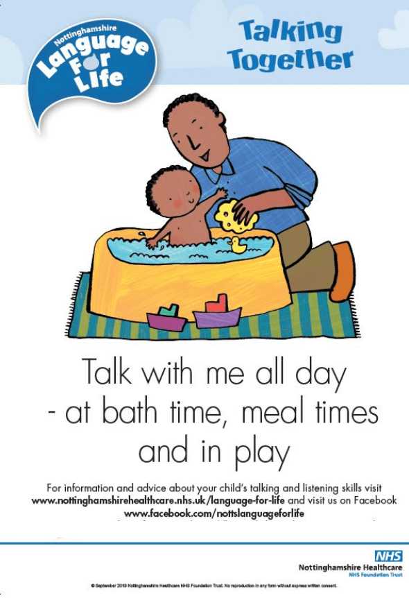 Talk with me all the day poster