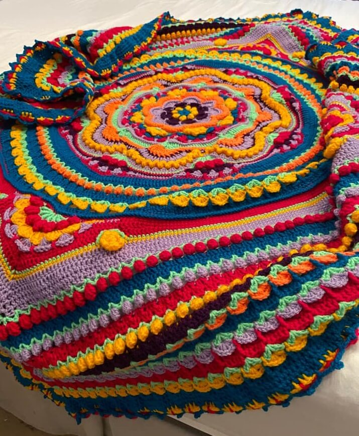 Lockdown Crochet Blanket by Bethany Francomb, Arnold Lodge