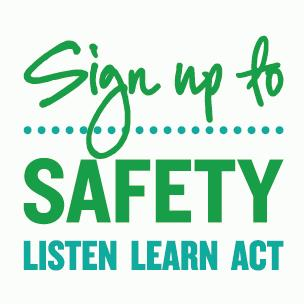 Sign up to Safety campaign logo