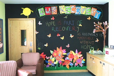 Recovery artwork in Women's service at Rampton Hospital