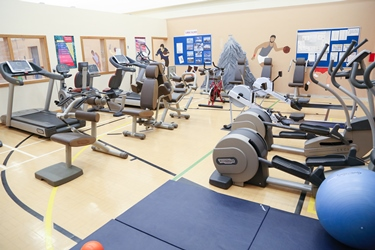 The gym in The Peaks Unit