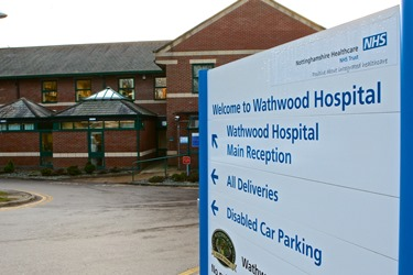 Wathwood Hospital Entrance sign