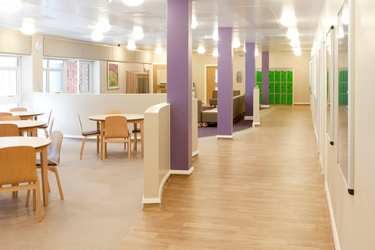 Communal area on Porchester Ward at The Wells Road Centre