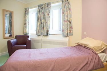 Bedroom on Seacole Ward at The Wells Road Centre