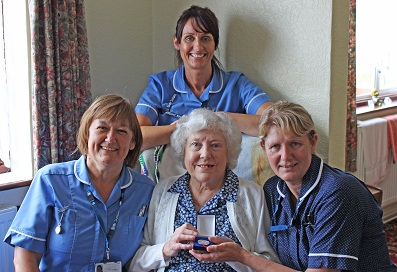 Mildred with community nurses