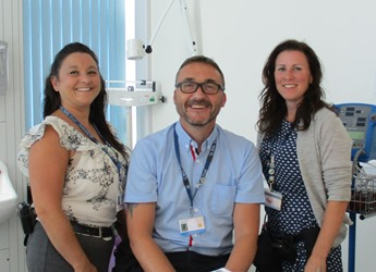 Three team members from the physical healthcare team
