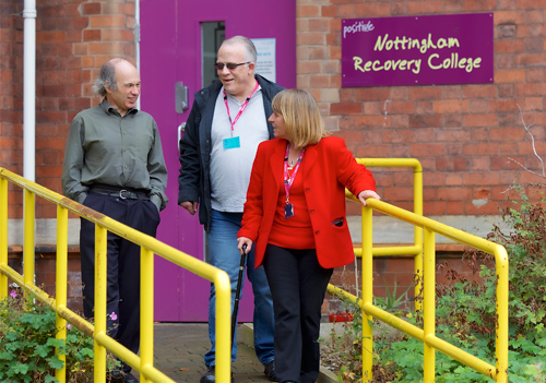 People outside the Nottingham Recovery College
