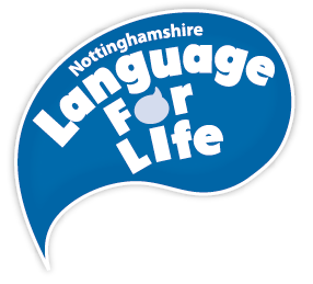 Nottinghamshire Language for Life logo