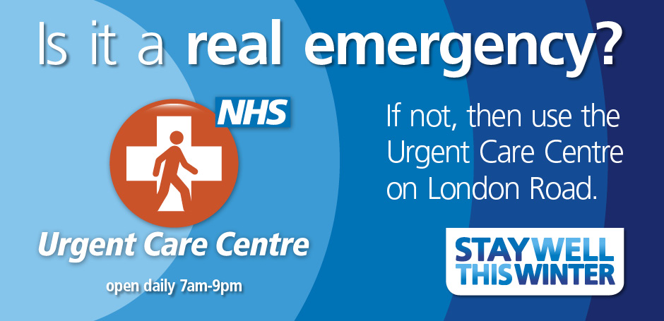 A&E is only for real emergencies.